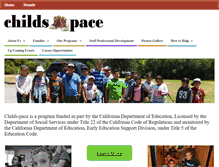 Tablet Preview of childs-pace.org